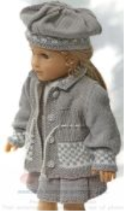dollknittingpattern 0151d vilde - skirt, blouse, pants, jacket, cap and shoes-(english)
