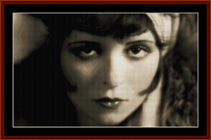 Clara Bow - Vintage Art cross stitch pattern by Cross Stitch Collectibles | Crafting | Cross-Stitch | Wall Hangings