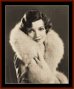 Claudette Colbert - Vintage Art cross stitch pattern by Cross Stitch Collectibles | Crafting | Cross-Stitch | Wall Hangings