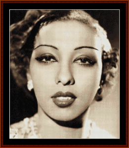 josephine baker - vintage art cross stitch pattern by cross stitch collectibles