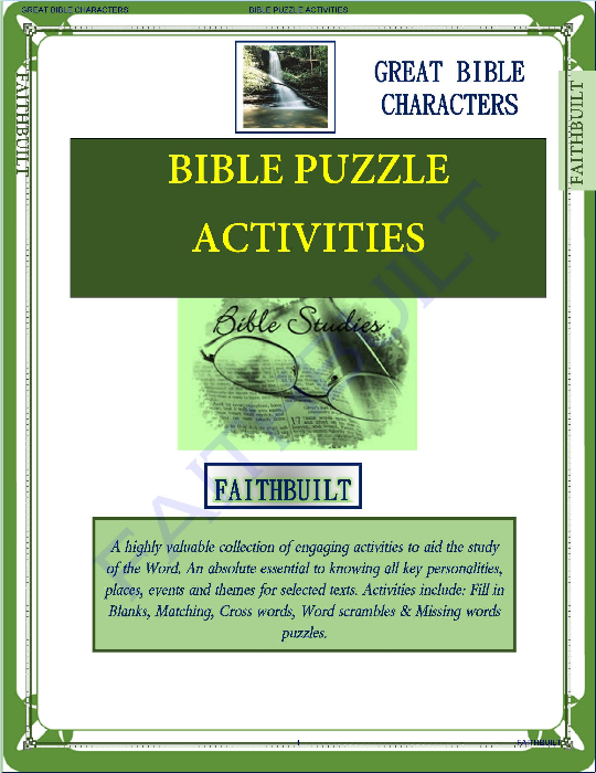First Additional product image for - Bible Puzzle Activities: Books Of The Bible