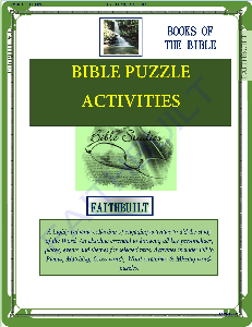 bible puzzle activities: books of the bible