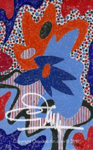 """claude's art:  dessin # 75g """"papiers froissés"""" hd"""