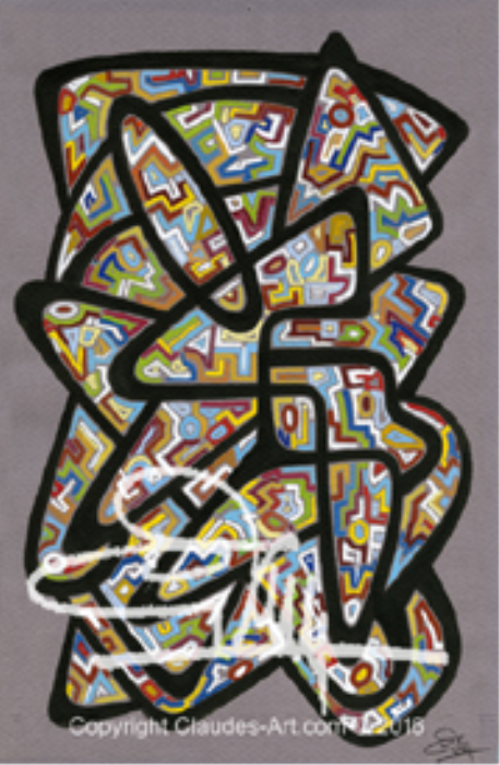 """First Additional product image for - Claude's Art: Duo """"Vitrail"""" (Stained Glass Duo) Dessins # 137 & 138  HD"""