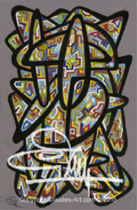 """claude's art: duo """"vitrail"""" (stained glass duo) dessins # 137 & 138  hd"""