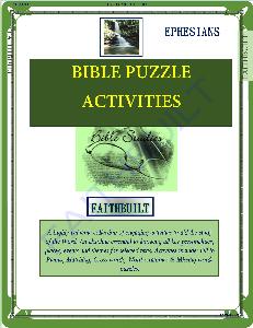 ephesians: bible puzzle activities