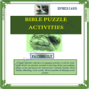 EPHESIANS: Bible Puzzle Activities | eBooks | Religion and Spirituality