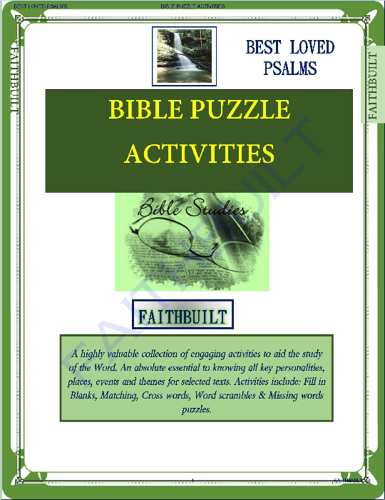 First Additional product image for - Bible Characters : Bible Puzzle Activities