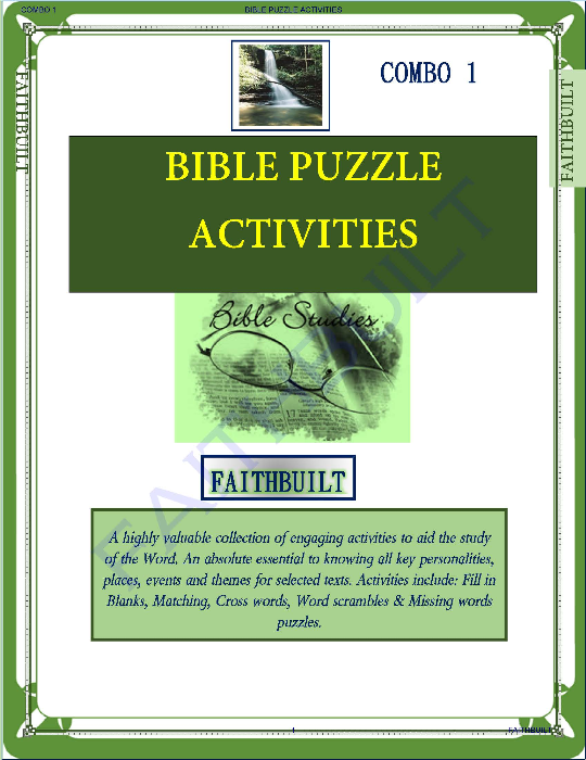 Third Additional product image for - Bible Characters : Bible Puzzle Activities