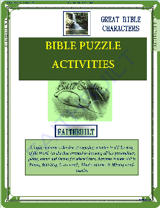 bible characters : bible puzzle activities