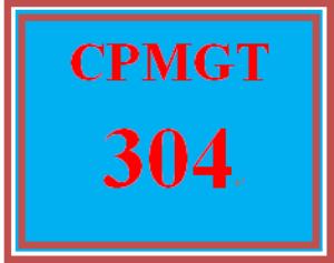 CPMGT 304 Week 4 Project Team Design Plan | eBooks | Education