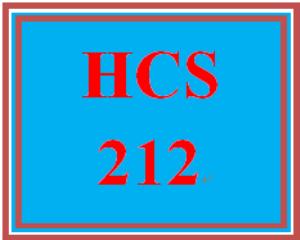 HCS 212 Entire Course | eBooks | Education