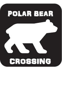 polar bear crossing sign printable