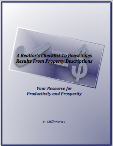 A Realtor's Checklist To Boost Sales Results From Property Descriptions | eBooks | Real Estate