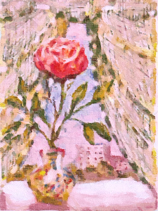 """picture """"rose on a window"""""""