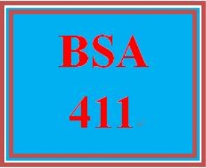 BSA 411 Entire Course | eBooks | Education
