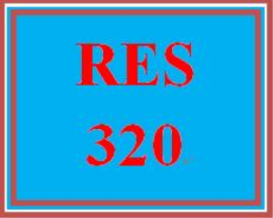 RES 320 Entire Course | eBooks | Education