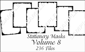 Printable Stationery Designs Paint Shop Pro Masks Vol 8 made by Sophia Delve | Other Files | Graphics