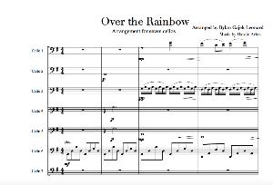 Somewhere Over the Rainbow: Arrangement for Seven Cellos, Rylan Gajek Leonard | Music | Classical