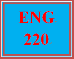 ENG 220 Entire Course | eBooks | Education