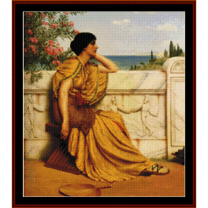 Leisure Hours, 1905 - Godward cross stitch pattern by Cross Stitch Collectibles | Crafting | Cross-Stitch | Wall Hangings
