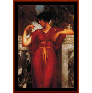 The Ring, 1898 - Godward cross stitch pattern by Cross Stitch Collectibles | Crafting | Cross-Stitch | Wall Hangings