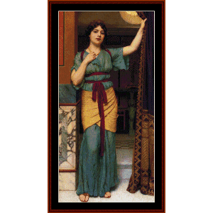 A Pompeiian Lady, 1916 - Godward cross stitch pattern by Cross Stitch Collectibles | Crafting | Cross-Stitch | Wall Hangings