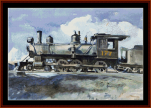 Locomotive - Hopper cross stitch pattern by Cross Stitch Collectibles | Crafting | Cross-Stitch | Wall Hangings