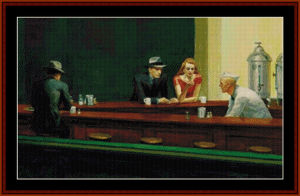 Nighthawks - Hopper cross stitch pattern by Cross Stitch Collectibles | Crafting | Cross-Stitch | Wall Hangings