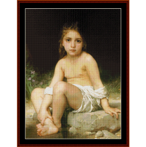 Child at Bath - Bouguereau cross stitch pattern by Cross Stitch Collectibles | Crafting | Cross-Stitch | Wall Hangings