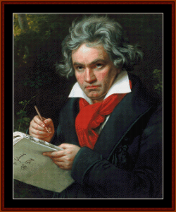Beethoven - Music Composer cross stitch pattern by Cross Stitch Collectibles | Crafting | Cross-Stitch | Wall Hangings