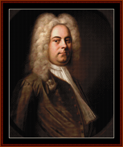 Handel l- Music Composer cross stitch pattern by Cross Stitch Collectibles | Crafting | Cross-Stitch | Wall Hangings