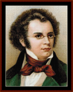 Schubert - Music Composer cross stitch pattern by Cross Stitch Collectibles | Crafting | Cross-Stitch | Wall Hangings