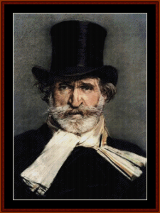 Verdi - Music Composer cross stitch patterm by Cross Stitch Collectibles | Crafting | Cross-Stitch | Wall Hangings