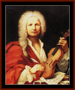 Vivaldi - Music Composer cross stitch pattern by Cross Stitch Collectibles | Crafting | Cross-Stitch | Wall Hangings
