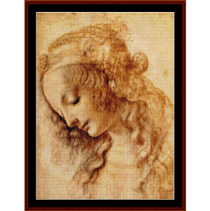 Portrait of a Woman II - DaVinci cross stitch pattern by Cross Stitch Collectibles | Crafting | Cross-Stitch | Wall Hangings