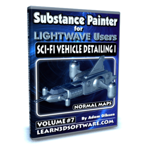 First Additional product image for - Substance Painter for Lightwave Users-Volume #7-Sci-Fi Vehicle Detailing I- Normal Maps
