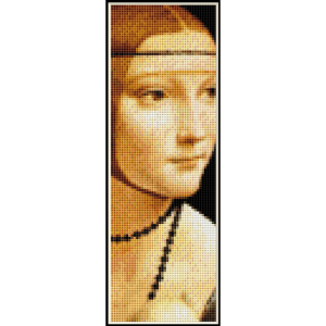 Lady with an Ermine Bookmark - DaVinci cross stitch pattern by Cross Stitch Collectibles | Crafting | Cross-Stitch | Other