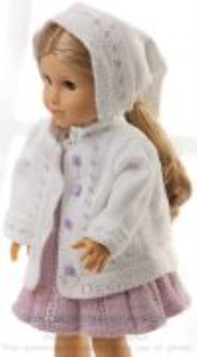 First Additional product image for - DollKnittingPatterns 0152D SOPHIA - Robe, panty, veste, foulard et chaussures-(Francais)