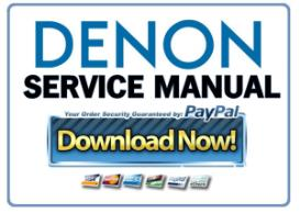Denon AVR-1910 1620 1610 790 590 Service Manual | eBooks | Technical