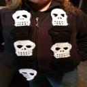 Crochet Skull Scarf, Skull Pattern, Crochet Skull, Skull Scarf | Crafting | Crochet | Other