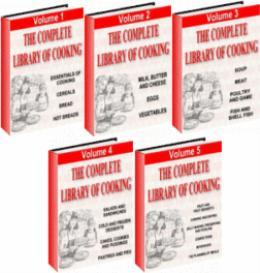The Complete Library Of Cooking 5 volumes | eBooks | Food and Cooking