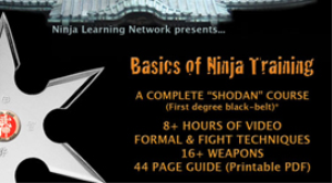 "Basics Of Ninja Training - Ninjutsu Bujinkan BLACK BELT COURSE ""JUST THE VIDEOS"" - DEVICES MP4-H264 | Movies and Videos | Educational"