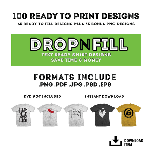 RyoArt Drop-N-Fill Vector Collection 2 - 100 T-Shirt Designs | Photos and Images | Clip Art