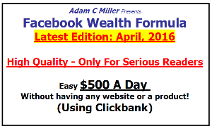 Facebook Wealth Formule | eBooks | Business and Money