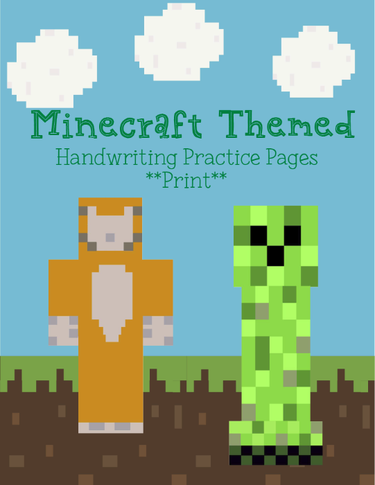 First Additional product image for - Minecraft PRINT Handwriting Pack