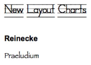 reinecke: praeludium