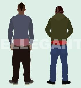 black teens with sagging pants (pfb-010)