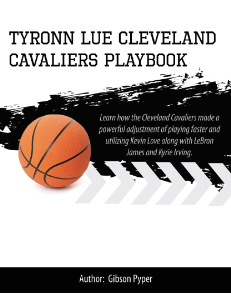 Tyronn Lue Cleveland Cavaliers Playbook | eBooks | Sports