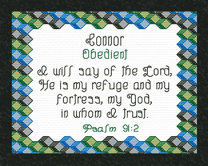 Name Blessings - Connor 2 | Crafting | Cross-Stitch | Religious